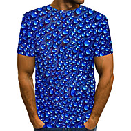 Men's Beer T-shirt Print Short Sleeve Daily Wear Tops Streetwear Exaggerated Round Neck Royal Blue / Club