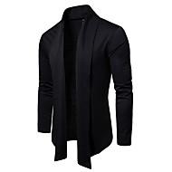 Men's Solid Colored Long Sleeve Cardigan Sweater Jumper, V Neck Black / Light gray / White US32 / UK32 / EU40 / US36 / UK36 / EU44 / US38 / UK38 / EU46