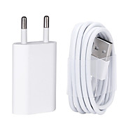 USB Wall Charger Cable with 8 Pin Data for iPhone/7/6/6S plus/5/5s/5C/se