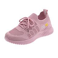 ราคาถูก -สำหรับผู้หญิง Tissage Volant ตก / ฤดูร้อนฤดูใบไม้ผลิ รองเท้ากีฬา รองเท้าบู้ทส้นเตารีด สีดำ / ผ้าขนสัตว์สีธรรมชาติ / สีชมพู