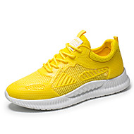Men's Comfort Shoes Mesh Summer Athletic Shoes Breathable Black / White / Yellow