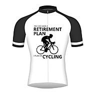 cheap -21Grams Retirement Plan Men's Short Sleeve Cycling Jersey - Black / White Bike Jersey Top Breathable Quick Dry Sports 100% Polyester Mountain Bike MTB Road Bike Cycling Clothing Apparel / Triathlon