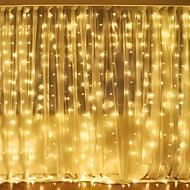 povoljno -3mx2m 240led bijelo / toplo bijelo / višebojno svjetlo romantično božićno vjenčanje vanjski ukras zavjese niz svjetlo