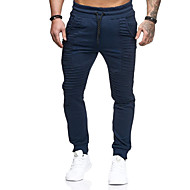 Men's Sporty Slim Sweatpants Pants - Solid Colored Stripe Dark Gray Navy Blue Army Green US32 / UK32 / EU40 US34 / UK34 / EU42 US36 / UK36 / EU44 / Elasticity