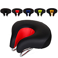 WOSAWE Bike Saddle / Bike Seat Extra Wide / Extra Large Breathable Cushion Hollow Design Iron Chrome Molybdenum Steel PU Cycling Road Bike Mountain Bike MTB Folding Bike Black Orange Yellow