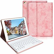 cheap -Case For Apple iPad Air / iPad (2018) / iPad Air 2 Shockproof / with Keyboard / Auto Sleep / Wake Up Full Body Cases Solid Colored Hard PU Leather / iPad (2017)