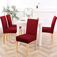 abordables -Housse de chaise Couleur Pleine / Classique / Moderne Jacquard Polyester Literie