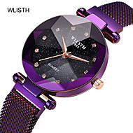 Women's Quartz Watches Crystal Fashion Colorful Gold Purple Rose Gold Stainless Steel Chinese Quartz Gold Purple Midnight Blue Adorable change color in the sun 30 m 1 pc Analog One Year Battery Life