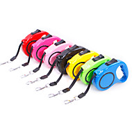 Dogs Leash Retractable Casual / Daily Safety Solid Colored Plastic Nylon Green Blue Pink