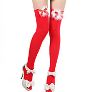Women's Christmas Stocking Adults' Cosplay Helloween Cosplay Costume Socks / Long Stockings Masquerade Patchwork Socks / Cotton Fibre