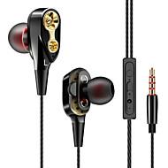 cheap -Double Unit Drive Headset In Ear Earphone Bass Stereo Earphone for phone DJ mp3 Sport Earphones Headset Earbud With Mic
