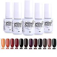 Nail Polish 12 Pcs color 25-36 xyp  Mottled Soak-Off UV/LED Gel Nail Polish Solid Color Nail Lacquer Sets