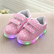 Boys' / Girls' LED Shoes Faux Leather / PU Sneakers Toddler(9m-4ys) / Big Kids(7years +) Walking Shoes LED White / Black / Pink Spring / Summer / Rubber