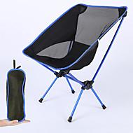 Balıkçı Sandalyesi Katlanır Kamp Sandalyesi Taşınabilir Ultra Hafif (UL) Katlanabilir Katlama File Alüminyum alaşımı için 1 Kişi Balıkçılık Kamp Sonbahar Bahar Kırmızı Turuncu Koyu Mavi Açık Mavi