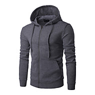 Men's Casual / Basic Hoodie - Solid Colored Navy Blue US34 / UK34 / EU42