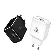 Недорогие -ес / сша usb адаптер типа c pd 18 Вт быстрое зарядное устройство usb быстрая зарядка usb мобильного телефона для iphone macbook samsung xiaomi huawei