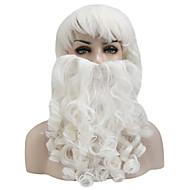 Santa Claus Wig + Beard Set Christmas Decorative Costume Accessory Adult Cosplay Fancy Dress