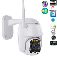 1080p WIFI Wireless Outdoor PTZ CMOS IP Camera H.265X Speed Dome CCTV IP66 Waterproof Two-Way Audio Night Vision Remote Access Security Cameras WIFI Exterior 2MP IR Home Surveilance