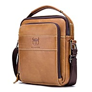 (BULLCAPTAIN) Men's Leather Shoulder Crossbody Bag Casual Vintage Shoulder Cross Soft Skin Medium Bag