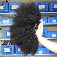 3 paketa Kosa tkanja Mongolska kosa Afro Kinky Proširenja ljudske kose Remy kosa 100% Remy kose tkanja Bundle 300 g Ljudske kose plete Ekstenzije od ljudske kose 8-26 inch Prirodna boja Priroda Crna