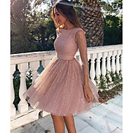 cheap -Women's Cocktail Party Sexy Skater Dress - Solid Colored Backless Spring Blushing Pink S M L XL