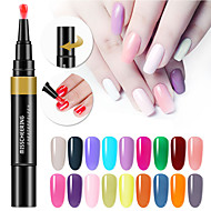cheap -24 Colors 3 In 1 Gel Nail Polish Pen Nail Art Tips UV Gel Varnish Hybrid One Step Sugar Nails Glue No Need Top Base Coat