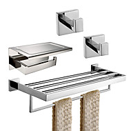 cheap -Bathroom Accessory Set / Toilet Paper Holder / Bathroom Shelf New Design / Creative / Multifunction Contemporary / Traditional Stainless Steel + A Grade ABS / Stainless Steel / Metal 4pcs - Bathroom