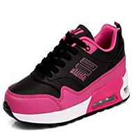 ราคาถูก -สำหรับผู้หญิง รองเท้ากีฬา ส้นแบน Synthetics สำหรับวิ่ง ฤดูใบไม้ผลิ Pink And White / สีดำ / สีแดง / ขาว