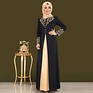 abordables -Vêtements traditionnels et culturels Abaya Motif / Impression Femme Usage quotidien Manches Longues Polyester