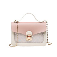 Women's Chain PU(Polyurethane) / PU Crossbody Bag Black / Brown / Blushing Pink
