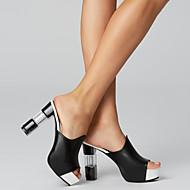 Women's Sandals Chunky Heel PU(Polyurethane) Comfort Summer White / Black / Red