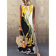 cheap -Women's Plus Size Maxi Dress - Sleeveless Floral Print Spring & Summer Casual Holiday Vacation 2020 White Yellow S M L XL XXL XXXL XXXXL XXXXXL