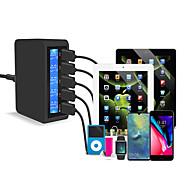 billige -50w hurtigopladning 3.0 5 port usb oplader adapter mobiltelefon hurtig oplader til iphone samsung xiaomi tablet oplader station plug