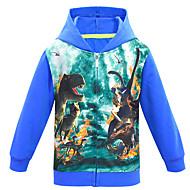 Kids Boys' Basic Dinosaur Print Print Long Sleeve Hoodie & Sweatshirt Black