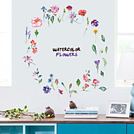 Fashion Colored Flowers Wall Stickers - Animal Wall Stickers Animals / Landscape Study Room / Office / Dining Room / Kitchen