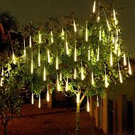 povoljno -4 paketa 50m 16ft tuš kiše svjetla 540 vodile padajuće meteorske kiše za prazničnu zabavu Halloween božićno drvce ukras vodootporan