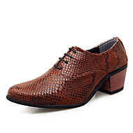 Men's Leather Shoes PU Summer Oxfords Brown / White / Red