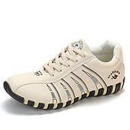 ราคาถูก -สำหรับผู้หญิง รองเท้ากีฬา ส้นแบน ปลายกลม PU Sporty / Preppy วสำหรับเดิน ฤดูใบไม้ผลิ & ฤดูใบไม้ร่วง / ฤดูหนาว สีดำ / ขาว / ผ้าขนสัตว์สีธรรมชาติ / ลายบล็อคสี