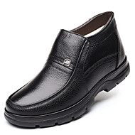Men's Comfort Shoes Leather Winter Boots Breathable Black / Brown / Office & Career