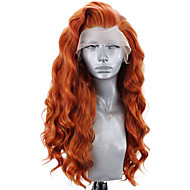 Synthetic Lace Front Wig Wavy Body Wave Free Part Lace Front Wig Blonde Long Orange Synthetic Hair 8-12 inch Women's Soft Elastic Women Blonde / Glueless