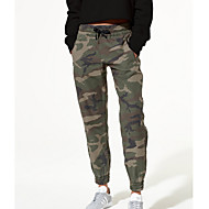 Women's Cargo Pants - Camouflage Army Green S M L