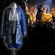 Prins Udyret og skønheden Vintage Inspireret Middelalderkostumer Dragter Maskerade Herre Kostume Blå Vintage Cosplay Fest Halloween Langærmet / Frakke / 背心 / Trøje / Bukser / Krave