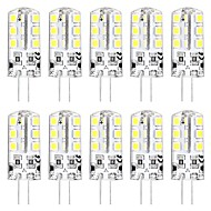 10pcs 3 W LED Bi-pin Lights 3000 lm G4 T 24 LED Beads SMD 2835 New Design Warm White White 12 V