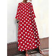 Women's Basic Shift Dress - Polka Dot Print Black White Red S M L XL