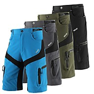 Arsuxeo Men's Cycling MTB Shorts Bike Shorts Baggy Shorts MTB Shorts Waterproof Breathable Moisture Wicking Sports Solid Color Polyester Spandex Black / Grey / Army Green Mountain Bike MTB Road Bike