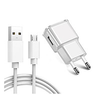 cheap -Portable Charger / Home Charger / Fast Charger USB Charger EU Plug Charger Kit 1 USB Port 2 A 100~240 V for S6 / S6 edge / S6 edge plus