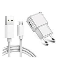 billige -bærbar oplader / hjemmelader / hurtigoplader USB-oplader eu-stikkopladersæt 1 USB-port 2 a 100 ~ 240 v til s6 / s6 kant / s6 kant plus