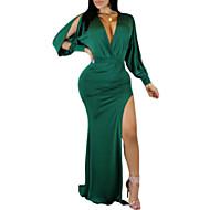 Women's Basic Elegant Sheath Dress - Solid Colored Patchwork Green S M L XL