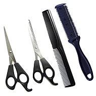 4Pcs Hair Scissors cutting Shears Barber Hair Cutting Thinning Hairdressing Set Styling Tool Hairdressing Comb Double Sides Hair Razor Comb Cutter