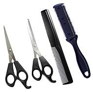 4 sztuk nożyce do włosów nożyce do cięcia fryzjer strzyżenie włosów przerzedzenie zestaw fryzjerski narzędzie do stylizacji grzebień fryzjerski podwójne boki włosów maszynka do ...